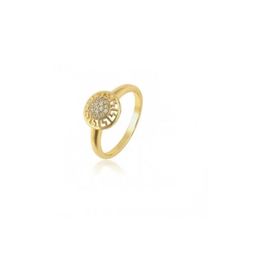 Inel placat cu aur de 18k, cu pietricele zirconia montura micropave 7448O920 marime 51