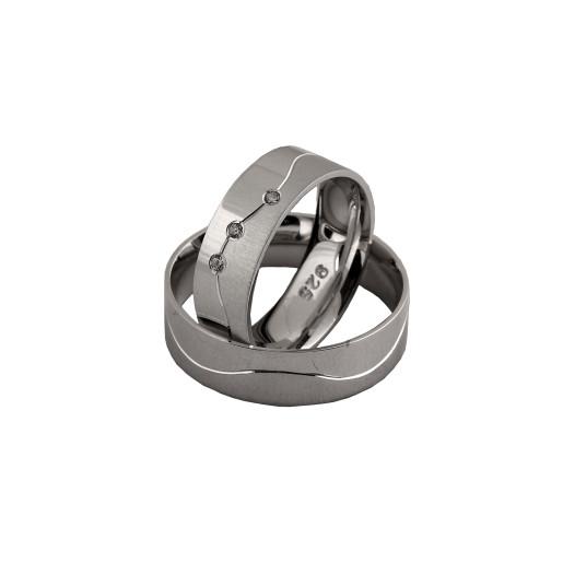 Verigheta argint 925,rodiata, toghether for ever , cu pietre zirconia  7478O980