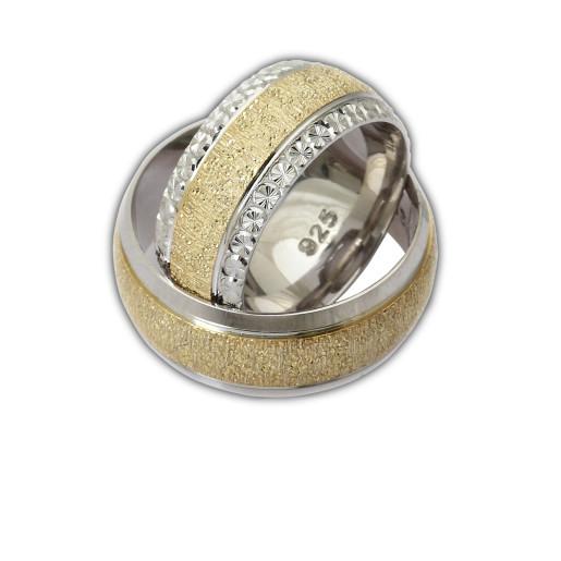 Verigheta argint 925,rodiata, placata partial cu aur galben 7479O980