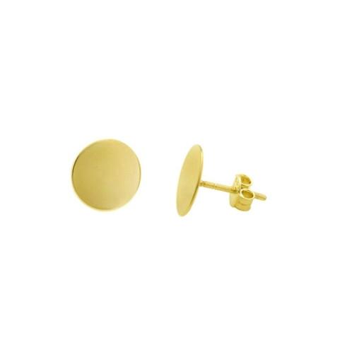 Cercei placati cu aur de 18 k, 2 microni, productie Brazilia, 7485O815