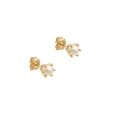 Cercei placati cu aur de 18 k, 2 microni, productie Brazilia 7488O813