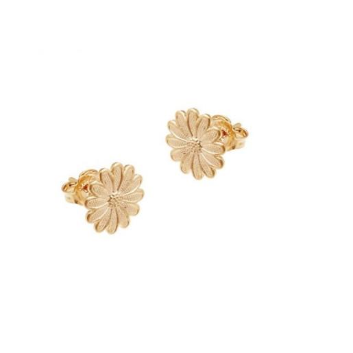 Cercei placati cu aur de 18 k, 2 microni, productie Brazilia  , model floare, 7492O813