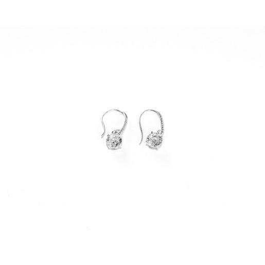 Cercei argint 925, rodiat, cu pietre zirconia,  7511O822