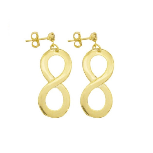 Cercei placati cu aur de 18 k, colectia onlinebijoux golden shine Brazil 7538o817