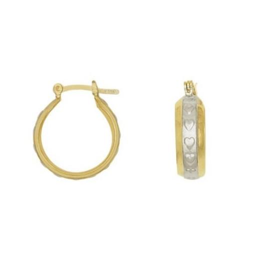 Cercei placati cu aur galben si alb de 18 k, colectia onlinebijoux golden shine Brazil  7541O819