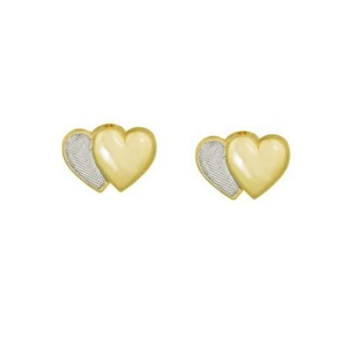 Cercei placati cu aur galben si alb de 18 k, colectia onlinebijoux golden shine Brazil  7542O815