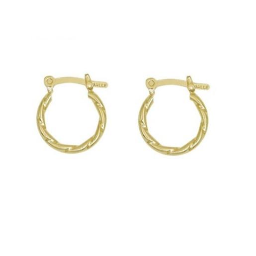 Cercei placati cu aur de 18 k, colectia onlinebijoux golden shine Brazil 7544O810