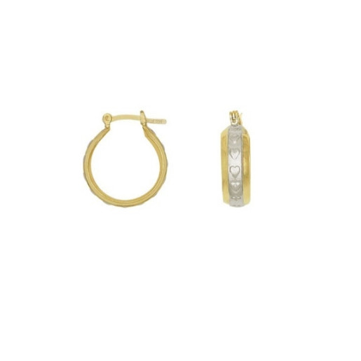 Cercei placati cu aur de 18 k,bicolor , colectia onlinebijoux golden shine Brazil  - 7555O819