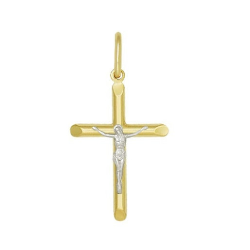 Pandantiv placat cu aur de 18 K, 2 microni, bicolora, productie Brazilia-  7565O711