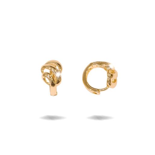 Cercei placati cu aur 18 K, model creola , 7623O814