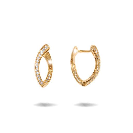 Cercei placati cu aur 18 K, inchidere clasica, cu pietre zirconia montura micropave 7627O823