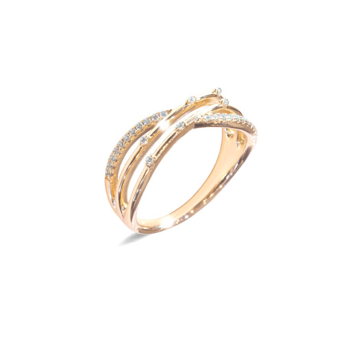Inel placat cu aur de 18 K, colectia onlinebijoux, 7633O923