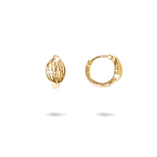 Cercei placati  cu aur 18 k, 2 microni, ,fara pietre, inchidere clasica - 7673O816