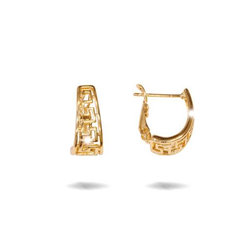 Calypso, cercei placati cu aur 18 K, model grecesc, fara pietre  , inchidere clasica  - 7711O823