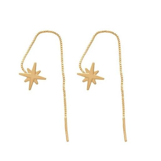 Cercei placati cu aur de 18 k, productie Brazilia , model steluta - 7723O817