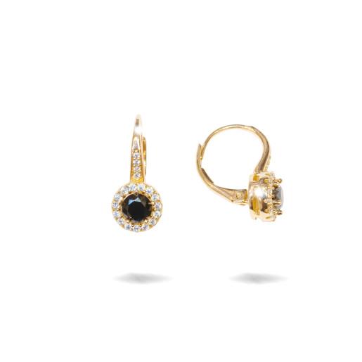 Cercei placati cu aur 18 K, inchidere clasica cu arc - 7732O822