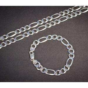 Set argint 925: lant, bratara, design italian -1503O5450