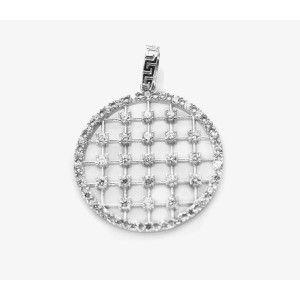 Crystal, pandantiv argint 925, rodiat, design italian