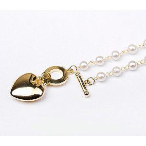 Bratara placata cu aur de 18 k, model pearl love line