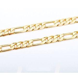 Lant placat cu aur 18 K, 2 microni, productie Brazilia, model barbates - 2617O349