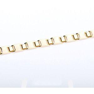Bratara placata cu aur 18 k, 2 microni, productie Brazilia, model barbatesc - 2622O453