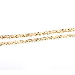 Bratara placata cu aur de 18 k, colectia Golden Shine, model spic