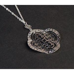 Lant cu pandantiv argint 925 rodiat, design italian - 4774O3120