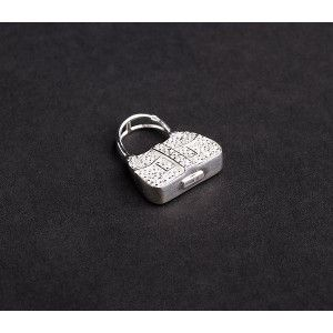 Pandantiv argint 925, design italian. Pietre: zirconia albe - 5090O760