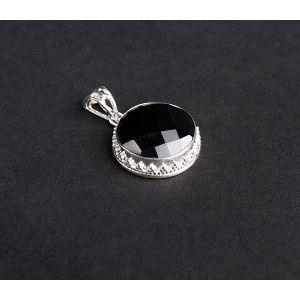 Pandantiv argint 925, design italian. Pietre: onix - 5099O775