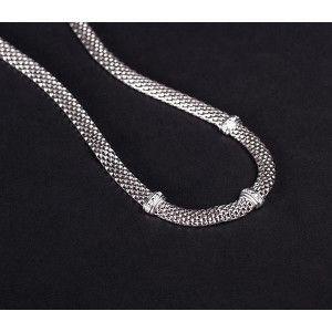 Stil si eleganta, colier argint 925, cu pietre zirconia