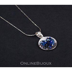Blue style, colier argint 925, rodiat