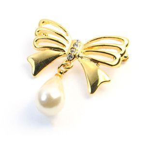 Noella,brosa placata cu aur de 18 k, colectia Classics