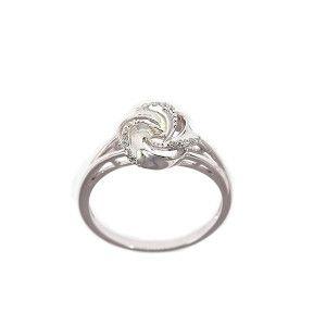 Inel argint 925 rodiat, design italian, colectia Flower