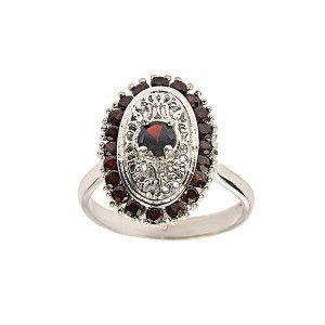 Inel argint 925 rodiat, design italian, Colectia Ruby Milano