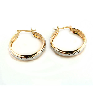 Cercei placati cu aur de 18 k, colectia Golden Shine Brazil -613O815