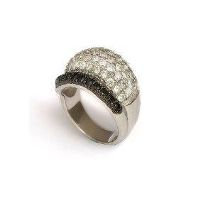 Inel argint 925, rodiat, colectia Two Tone Milano