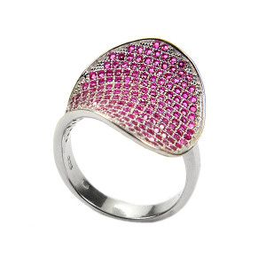Berry, inel argint 925 , pink style