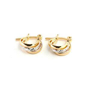 Mora, Cercei placati cu aur de 18 k, colectia Golden Shine