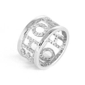 Hope, inel argint 925, rodiat design italian