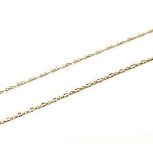 Lant placat cu aur 18 K, 2 microni, productie Brazilia, model diamantat 6327O314