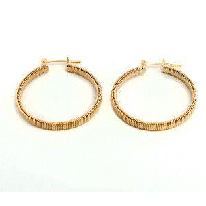 Cercei placati cu aur, colectia Golden Shine-639O815