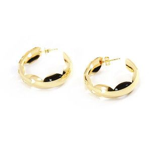 Cercei placati cu aur, colectia Golden Shine-6531O829