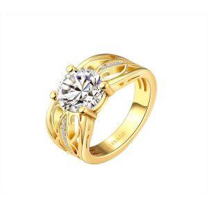 Inel placat cu aur de 18 k, un cadou perfect care incanta orice privire