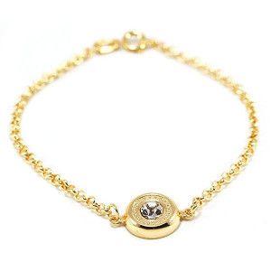 Mery, bratara placata cu aur de 18 k , colectia golden Brazil, colectia Golden Shine
