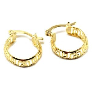 Cercei creole, placati cu aur, 18 K, 2 microni, productie Brazilia 6634O813