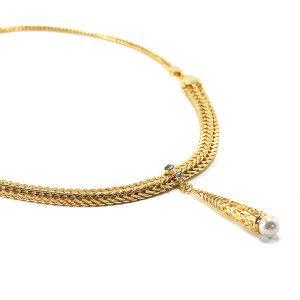 Colier placat cu aur, colectia Golden Shine-6688O3160