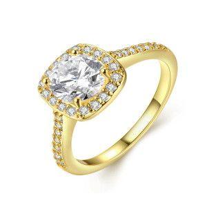 Nina, inel placat cu aur de 18 k, 2 microni