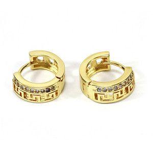 Cercei placati cu aur, colectia Golden Shine-6731O818