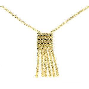 Colier placat cu aur, colectia Golden Shine-6815O3125