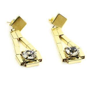 Cercei placati cu aur, colectia Golden Shine-6818O851